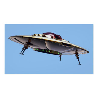 Metalic UFO Poster