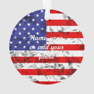 Metallic American Flag Design 2