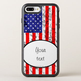 Metallic American Flag Design 2 OtterBox Symmetry iPhone 7 Plus Case