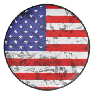 Metallic American Flag Design 2 Plate