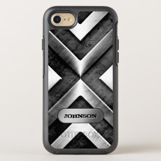 Metallic Armor with Name Plate Military Pattern OtterBox Symmetry iPhone 8/7 Case