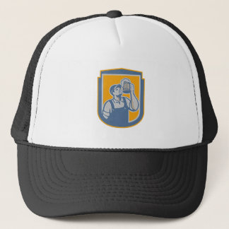 Metallic Bartender Toast Beer Mug Shield Retro Trucker Hat