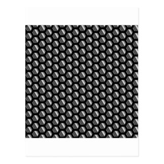 Metallic beehive postcard