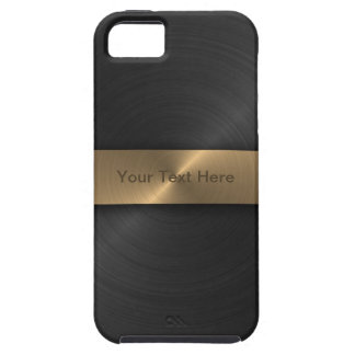 Metallic Black And Gold iPhone 5 Covers