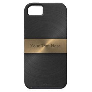Metallic Black And Gold Tough iPhone 5 Case