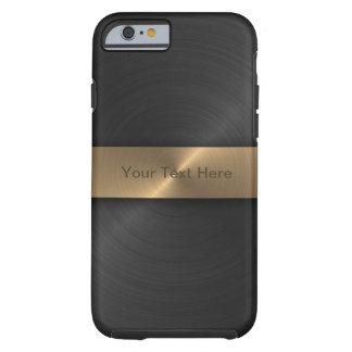 Metallic Black And Gold Tough iPhone 6 Case