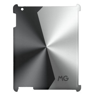 Metallic Black & Silver Geometric Design Cover For The iPad 2 3 4