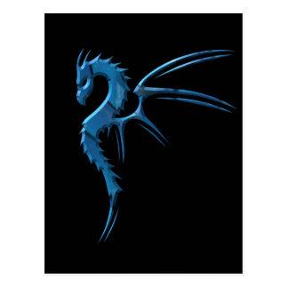 Metallic Blue Dragon Postcard