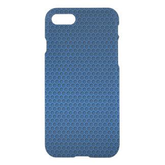 Metallic Blue Graphite Honeycomb Carbon Fiber iPhone 8/7 Case