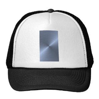 Metallic Blue Mesh Hats
