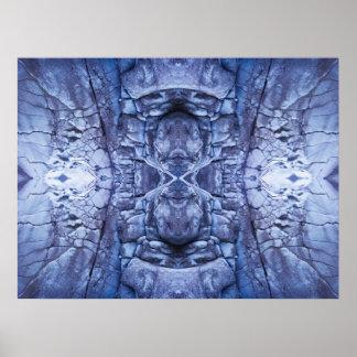 Metallic Blue Poster