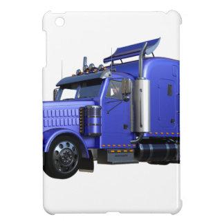 Metallic Blue Semi Tractor Trailer Truck Cover For The iPad Mini