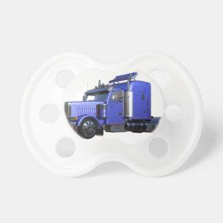 Metallic Blue Semi Truck In Three Quarter View Dummy
