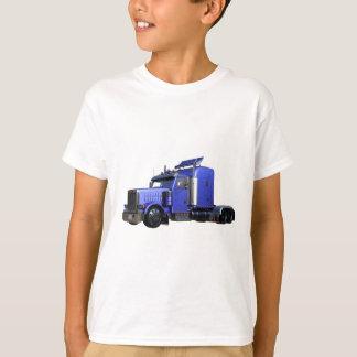 Metallic Blue Semi Truck In Three Quarter View T-Shirt
