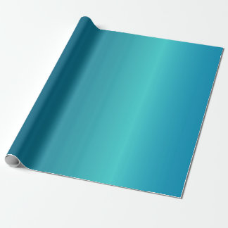 Metallic Blue Wrapping Paper