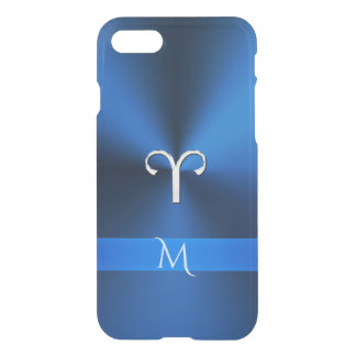 Metallic Blues Zodiac Sign Aries iPhone 7 Case