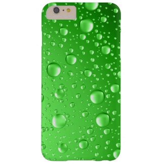 Metallic Bright Green Abstract Rain Drops Barely There iPhone 6 Plus Case