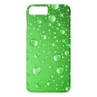 Metallic Bright Green Abstract Rain Drops iPhone 7 Plus Case