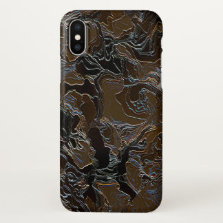 Metallic Brown Camouflage iPhone X Case