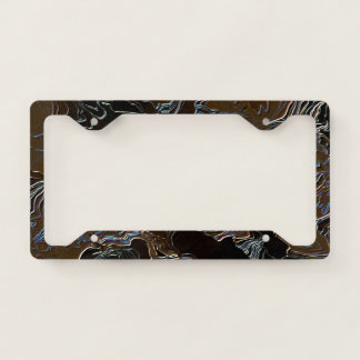 Metallic Brown Camouflage Licence Plate Frame
