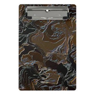 Metallic Brown Camouflage Mini Clipboard