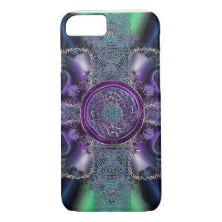 Metallic Celtic Fractal Grid iPhone 7 Case