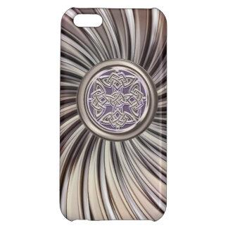 Metallic Celtic Shield Knot on Metal Decor Case iPhone 5C Covers