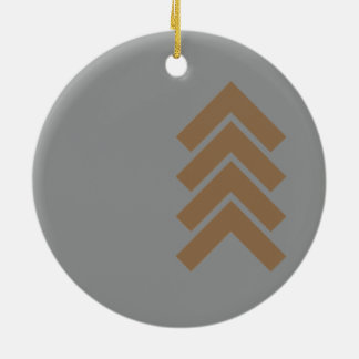 Metallic Chevron Round Ceramic Decoration