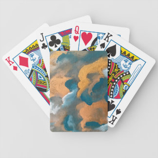 Metallic Clouds Bicycle Playing Cards