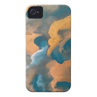 Metallic Clouds iPhone 4 Case