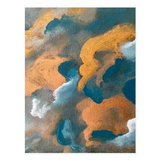 Metallic Clouds Postcard