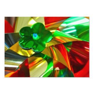 Metallic Coloured Windmills Invitation