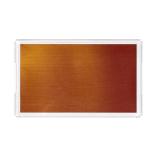 Metallic Copper Acrylic Tray