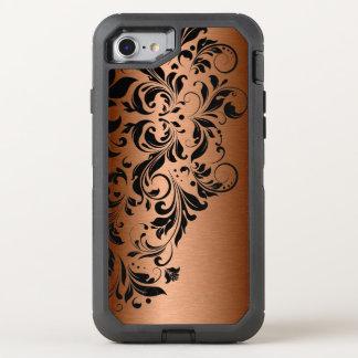 Metallic Copper & Black Lace OtterBox Defender iPhone 8/7 Case