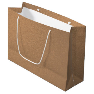 Metallic Copper-Colored Large Gift Bag