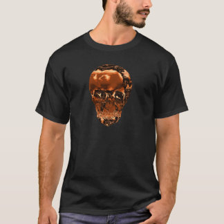 Metallic Copper Crystal Skull T-Shirt