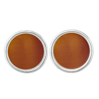 Metallic Copper Cufflinks