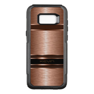 Metallic Copper Geometric Background OtterBox Commuter Samsung Galaxy S8+ Case