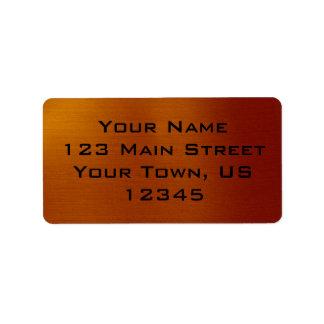 Metallic Copper Label