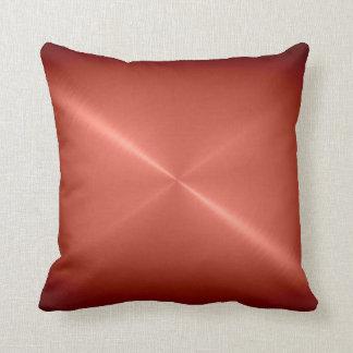 Metallic Copper Stainless Steel Metal Look Cushion