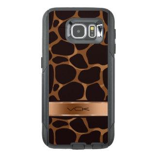 Metallic Copper Tones & Brown Leopard Print OtterBox Samsung Galaxy S6 Case