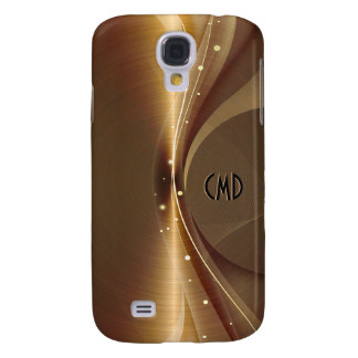 Metallic Copper Tones Stainless Steel Look Samsung Galaxy S4 Covers