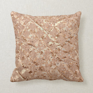 Metallic Crystals Rose Gold Makeup Sparkly Copper Cushion