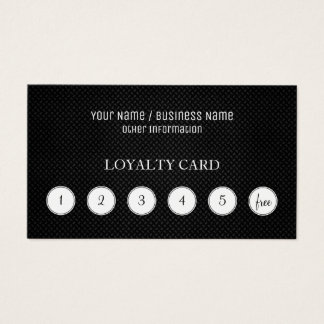 Metallic Customer Loyalty Punch Card