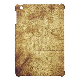 Metallic distressed cool retro brown yellow grunge cover for the iPad mini