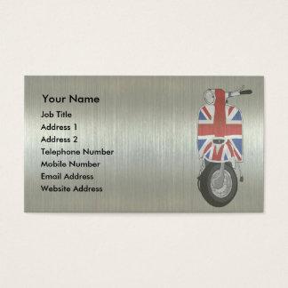Metallic effect UJ Scooter Business Card