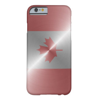 Metallic Flag Of Canada Barely There iPhone 6 Case