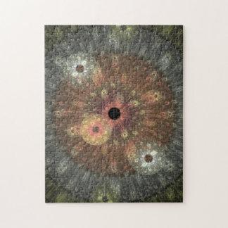 Metallic Flame Fractal Jigsaw Puzzle