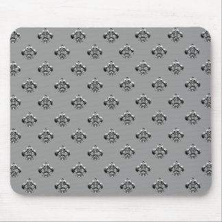 Metallic Fleur de lis (Silver) Mouse Pad