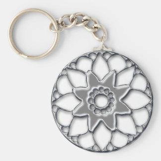 Metallic flower keychain 1